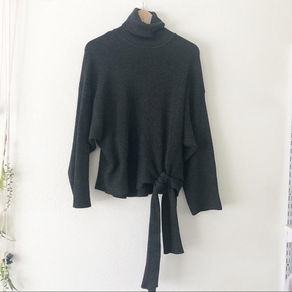 3e1d6c02 Zara Sweaters | Knit Turtleneck Sweater With Tie At Waist | Poshmark